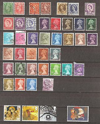 Great Britain - Queen Elizabeth, Christmas - 43 used stamps