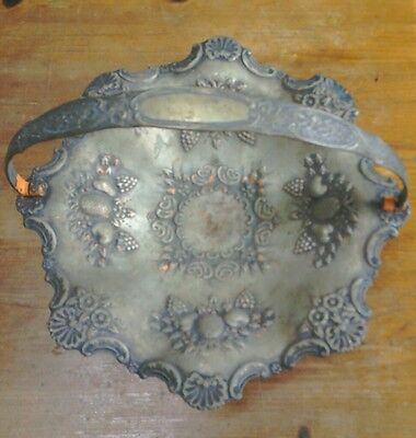 silver plate fruit bowl