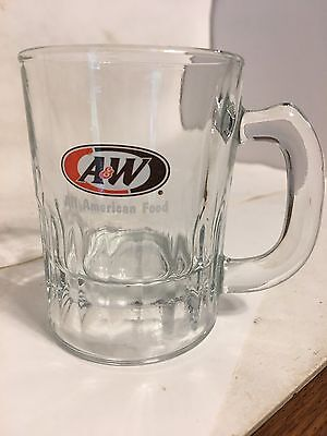 A&W ALL AMERICAN FOOD BABY SIZE Root Beer MUG 3.25 NO DAMAGE