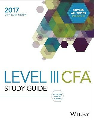 2017 Wiley Study Guide for 2017 Level 3 Cfa Exam