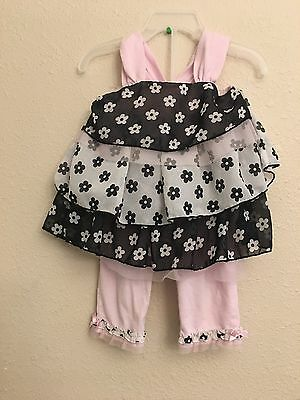 Toddler girls Little Las 2 piece outfit size 3T pants top