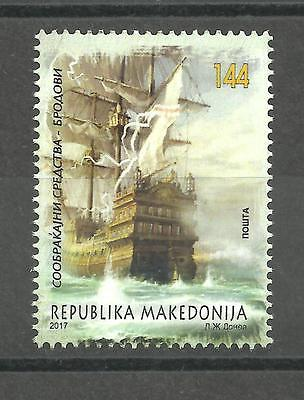 719  MACEDONIA 2017  Ships, means of transport set MNH
