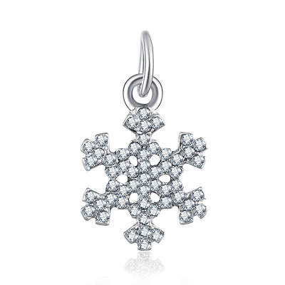 Christmas snow 925 silver charm beads fit sterling bracelet necklace chain #A314