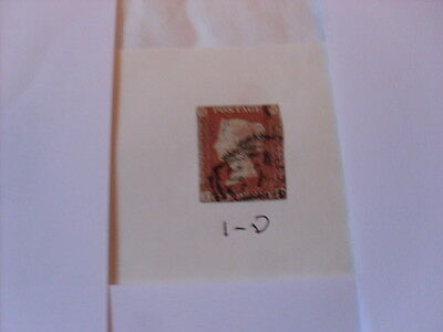 Queen Victoria 1841 Penny Red  I - D  Imperforate