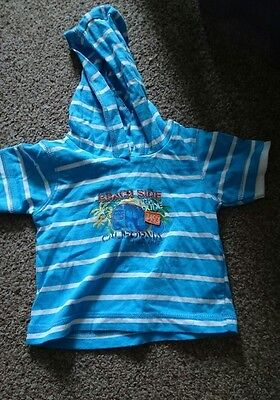 Gorgeous Boys Hooded Top, 3-6 Months, Perfect For Summer *Good Condition*