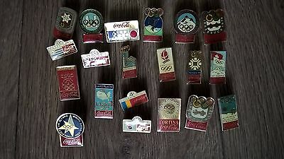"20 Pin's pins ""COCA COLA"" Alimentaire - J.O  - collection broche avec attaches"