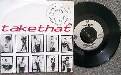 """Take That ''could It Be Magic'' 1991 7"""" Record  (Original Picture Sleeve)"""
