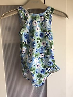 Next Baby Girl Blue Floral Swimsuit 3-6 Months