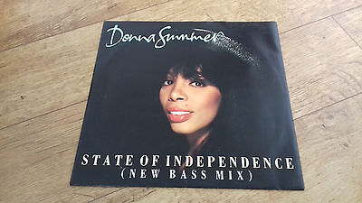 """Donna Summer state of independence bass mix 12"""" vinyl single"""