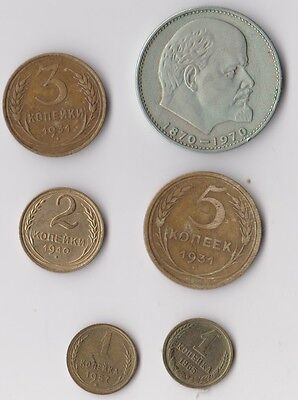 6 beautiful USSR coins with better dates