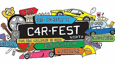 Carfest North Weekend Camping  2 Adult Tickets