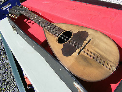 Antique Vintage Mandolin With Case And Strings