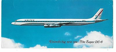 Airline issue postcard-United Super DC8 aircraft