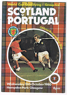1980 Scotland v Portugal - World Cup Qualifier @ Hampden Park