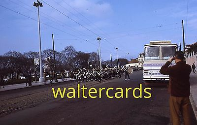 KODACHROME 35mm Slide 1972 1970s Europe Rome Italy Spain ? Tourist Bus Parade