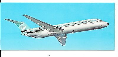Airline issue postcard-Caribair Super DC9 aircraft