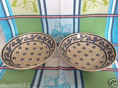 "LAURA ASHLEY ""PETITE FLEUR"" 2 X CEREAL BOWLS 7.375"" dia. By Johnson Brothers"
