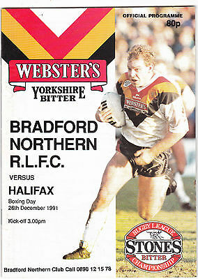Bradford Northern v Halifax 1991/2