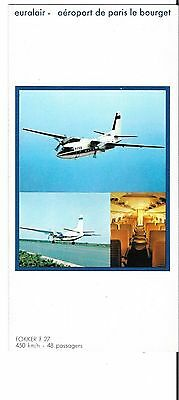 Airline issue postcard-Euralair Fokker F27  aircraft