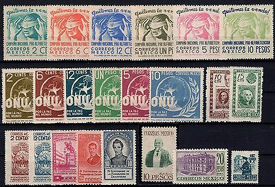 P24586/ Mexique Mexico 1945 / 1947 Lot Neuf / Mint 255 €