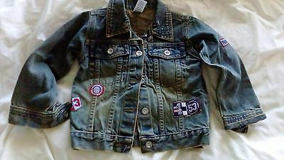 Boys Collared Antique Washed Look  Denim Jacket Age 12-18Mths