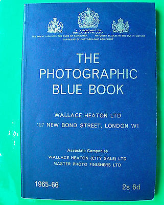 The Wallace Heaton Photographic Blue Book 1965-66. Excellent Condition.