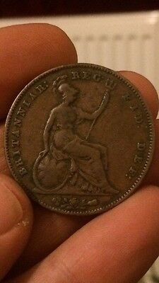 Rare Queen Victoria 1856 Penny Large Copper One Penny