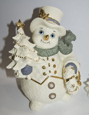 Grandeur Noel Porcelain SNOWMAN FAMILY Collector's Edition 2001 Christmas, Minty