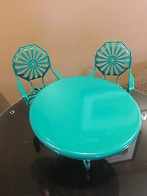 American girl Kit's Green Table And Chairs
