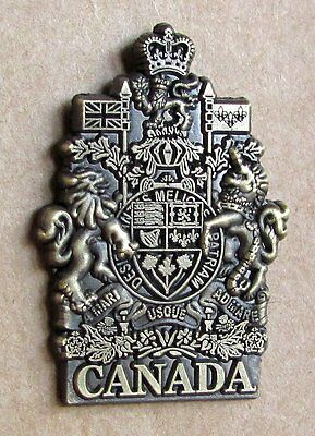 Canada Canadian Coat of Arms Antic Brass Lapel Pin