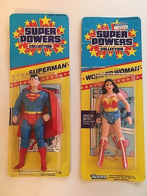 Superman & Wonderwoman figures from Kenner Super Powers rare collection LOT of 2