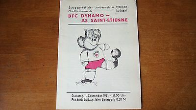 Bfc Dynamo V As Saint-Etienne Sep 1981