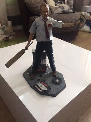 "Shaun Of The Dead Talking Action Figure Statue Neca 12"" Shaun Simon Pegg Zombie"