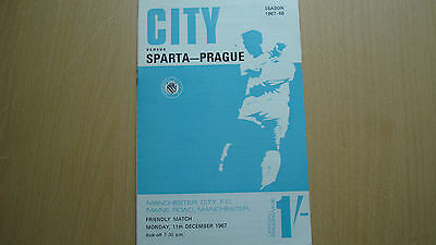 Manchester City V Sparta Prague Dec 1967