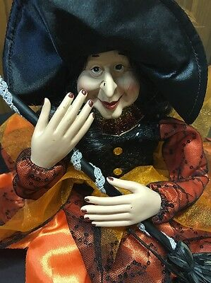 Halloween Sitting Witch decoration Fall Harvest  Figure doll New