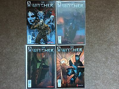 The Witcher Mini Comic Series Issues 1,2,3,4