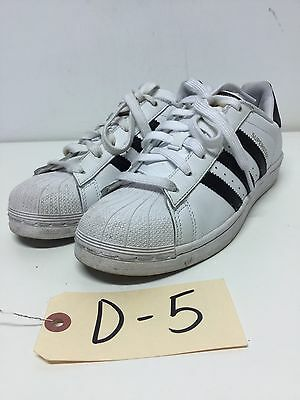 D5 Adidas Superstar White / Black Leather Sneakers Womens Size 6.5