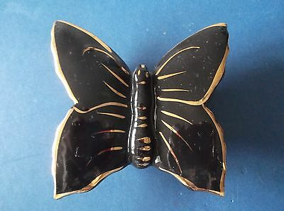 Wallpocket 50's Black as Butterfly with 22carat Gold Strips
