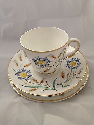 Wedgwood trio of cup saucer and tea plate in Wheat ear design