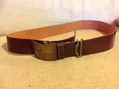Russian Army Belt Leather