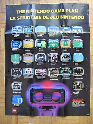 NES Nintendo Entertainment System Poster ~ Game Plan WRITTEN ON 1987 Promo Robot