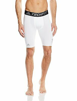 "ADIDAS Techfit DFB Base 9"" Compression Shorts  XXL  White  New."
