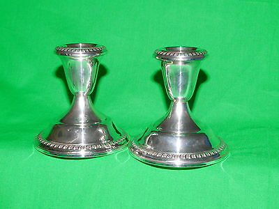 Empire Sterling Silver Candle Holders - 2 pc. set