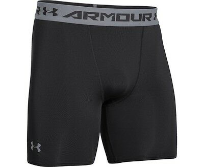 Under Armour Heatgear Armour Mid Compression Shorts  XL  Black  NEW.