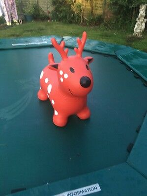 """Jumping Rain deer "" Red Rain Deer Space Hopper Great Fun Play"