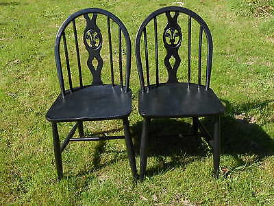 Pair of Arts and Crafts style chairs