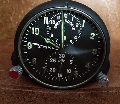 Soviet cockpit clock Russian Fighter Mig