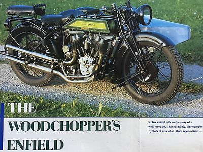 Royal Enfield 1927 Vee-Twin Outfit - Original 5 Page Motorcycle Article