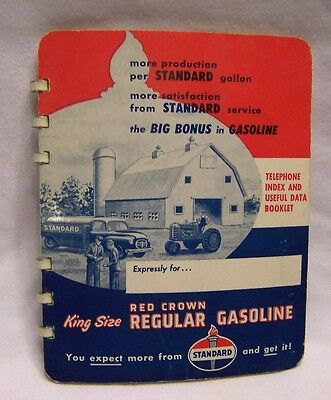 1959 Standard Oil Red Crown Gasoline Advertising Booklet & Telephone Index