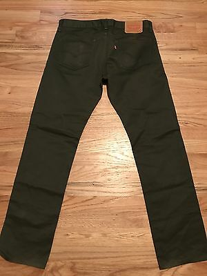 Mens Levis 511 Skinny Jeans, Size 34x32, Green